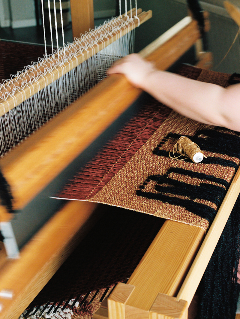detail of loom
